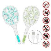 Elétrica Mosca Mosquito Swatter Raiva Bug Zapper Raquete Mosquito Pest Insetos Controle USB Recarregável LED Controle de Pragas de Iluminação