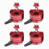 4X Racerstar 2207 BR2207S Fire Edition 2200KV 3-6S Brushless Motor For RC Drone FPV Racing Frame Kit