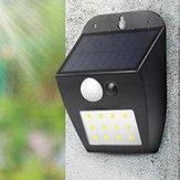 À l'énergie solaire 12 LED PIR Capteur de mouvement Mur Lumière Ourdoor Étanche Jardin Cour De Sécurité Lampe 3 Modes D'éclairage