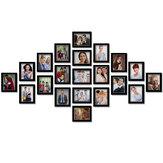 21 Pcs Kreatif Karton 7 inch Foto Dinding DIY Kombinasi Bingkai Foto