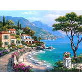 Landscape DIY Paint By Numbers Oil Painting Canvas Linen 40x50cm Paint Number Picture  Wall Art Pictures Home Decor Gift