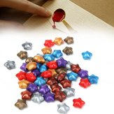 50pcs colore misto Lucky Star Wax Seal Ring Pentagram Francobollo Accessori