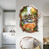 Miico3DCriativoPVCAdesivosde Parede Home Decor Mural Arte Removível Decalques de Parede de Alce