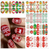 Kerstmis Nagel Kunst Decoratie Overdracht Manicure Tips Decal Stickers