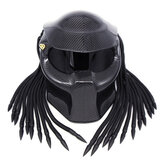 Hunter Carbon Fiber Motorcycle Full Face Helmet Iron Warrior Helmet Light DOT Safety Certification High Quality