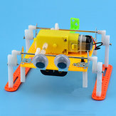 DIY Walking RC Robot Toy STEAM Educational Kit Gift For Kid Children