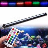 25CM RGB SMD5050リジッドLEDストリップライトエアーバブル水族館魚タンクランプ+リモートコントロールAC220V