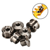 GUB 5 sztuk M8 * 6 Tytanu Bike Chainwheel Disc Bolts dla SHIMA-N0 MTB Road Bicycle