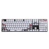 MechZone 110 Keys Plum Blossom Keycap Set OEM Profile PBT Sublimation Keycaps for GH60 IKBC Ducky FILCO 61/87/104/108 Keys Mechanical Keyboard