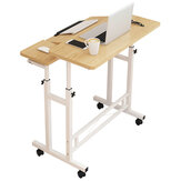 ホームオフィス用ホイールモバイルベッドサイドテーブル付きリフティングラップトップテーブル調節可能な高さデスクスタンディングコンピュータテーブル