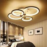 4 têtes LED plafonnier lampe suspendue couloir dimmable télécommande
