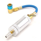 A/C Oil & Dye Injector+Low R12 R134A Quick Coupler Adapter Kit