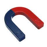 U Shaped Horseshoe Magnet Red Blue Painted Pole Physics Experiment Teaching 60mm