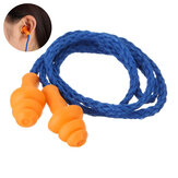 1 Pairs Soft Silicone Ear Plugs Reusable Hearing Protection Sleeping Loud Noise Traveling Studying Earplugs with Rope