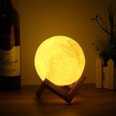 13CM 3D Mond-Lampe USB LED Farbe, die Nachtlicht-Tisch-Schreibtisch-Lampe ändert