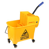 5 Gallon Mini Mop Bucket Trolley Wringer Combo Commercial Rolling Cleaning Cart