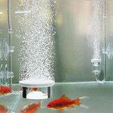 水族館のバブルエアストーンポンプ水汲みのディフューザー魚のタンクの池Aererディスク