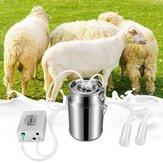 Seau à lait de Machine à traire électrique à impulsions 7L pour la ferme agricole de seau de pompe à vide d'acier inoxydable de chèvre de mouton