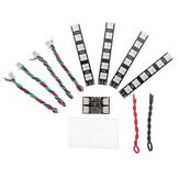 4 PCS WS2812 LED Strip Light 2-6S 7 Color Switchable with LED Controller Board for RC Drone FPV Racing