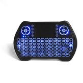 MT-10 2.4G sans fil espagnol trois couleurs rechargeable rétro-éclairé clavier Touchpad Air Mouse Airmouse