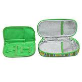 Bolsa de resfriamento de insulina para diabéticos para medicamentos portáteis Pacote de gelo refrigerador Bolsa Viagem Caso