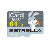 Estrella Memory Card 32G 64G TF Card C10 V60 U2 Smart Card with SD Adapter for Mobile Phone Camera