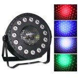 30W RGB Stage Light 15 LED Par Lamp Remote Sound Control for Club DJ Party Disco Wedding Christmas AC90-240V