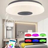 72W Dimmbare RGB LED Lampe Musik Bluetooth Deckenleuchte Home APP Fernbedienung