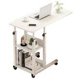 Table de chevet de bureau d'ordinateur portable réglable Table de levage mobile lit simple chariot de ménage pour chambre d'étudiant
