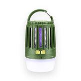 Naturehike IPX4 230LM Impermeable Trampa para matar mosquitos con carga USB LED Luz nocturna al aire libre cámping Lámpara Matanza de insectos Lámpara