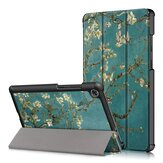 Tri-Fold Pringting Tablet Case Cover for Lenovo Tab M8 Tablet - Apricot Blossom Version