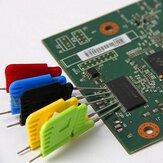 10 adet SDK08 Test Klip SMD Tutucular Test Klipleri Ultra Küçük Klip Ayak Klip Mikro Çip Çevrimiçi Yakma Klip