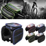 BIKIGHT自転車自転車フロントフレームチューブ電話バッグのタッチスクリーン防水ダブルポーチサイクリングバッグ