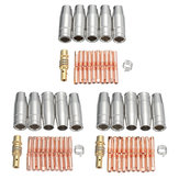 27pcs 0.6/0.8/1.0mm MB15 Mig Welding Torch Shroud Nozzle Tip Kit