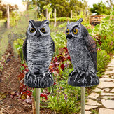 KCASA-2041 Plastic Owl Bird Deterrents Horned Owl Bird Scarecrow Pest Repellent For Outdoor Garden Yard