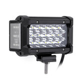 6Inch 54W LED Barra de luz de trabajo Side Shooter Flood Beam para Jeep Offroad ATV SUV Moto