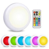 LED Cabinet Light  RGB Color Puck Night Lights Dimmable Under Shelf Kitchen Counter Lighting with Remote Controller