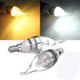 E14 3W Dimmable 300-330LM LED Chandelier Candle ضوء Bulb 220V