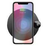 Baseus LCD Digital Display 10W 7.5W Qi Base di ricarica per caricabatterie wireless per iPhone XS MAX XR S9 Nota 9