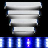 Süper İnce LEDs Akvaryum Aydınlatma Su Bitki Işık 20-60 CM Genişletilebilir Su Geçirmez Balık Tankı Için Lamba Klip Mavi Beyaz Işık