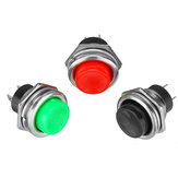 3A 125V Momentary Push Button Switch OFF-ON Horn Plastic Red Black
