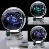 3D Solar System Crystal Ball 7 kleuren LED Universum Star Ball Laser gegraveerde decoratie