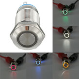 DC 12V 12mm Led Light Metal Push Button Latching Switch Waterproof Switch