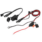 12V ضد للماء Motorcycle SAE to USB GPS هاتف شاحن Cable محول Inline Fuse