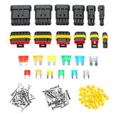 240Pcs 1/2/3/4/5/6 Pins Car Way Waterproof Electrical Terminal Wire Connector Plug Fuses