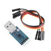 CP2104 USB 2.0 to TTL UART 6pin Serial Converter Module STC PRGMR مع الكابلات