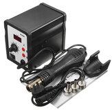 858D 220V Sıcak Hava Lehimleme Yeniden Çalışma İstasyonu + Kulp + Kulp Standı + 3 Nozul