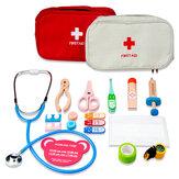 Kit de primeros auxilios de madera portátil para niños Juguetes Juego educativo para niños