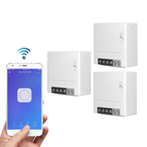 3pcs SONOFF MiniR2 Smart Switch bidirezionale 10A AC100-240V Funziona con Amazon Alexa Google Home Assistant Nest Supporta la modalità DIY Consente di Flash il firmware