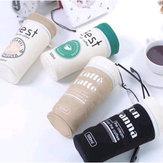 Kalem Kılıf Malzemeleri Kırtasiye Kawaii Kahve Kupası Okul Öğrenci Hediye Kalem Kutu Çantalar Sevimli Pencilcase Office Okul Aletler